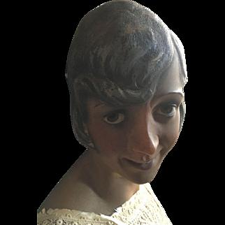 Original Pierre Imans 1920's Wax Bust