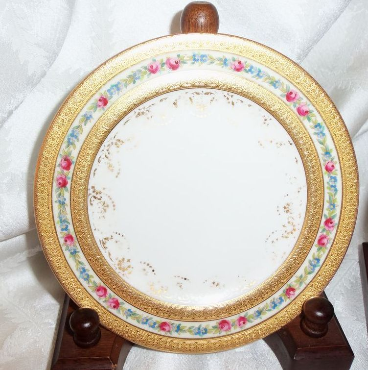 Five Tiffany & Company New York Decorated Dessert Plates Doulton & Co.