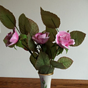 Lenox Mother's Day Vase Dated 1986 Aynsley Pink Roses Bouquet
