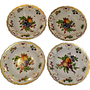 Four Mottahedeh Vista Alegre of Portugal Williamsburg Duke of Gloucester Porcelain Soup or Pasta Bowls
