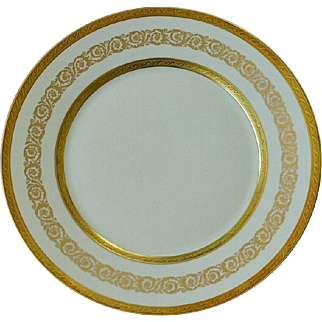 Anais Palais By Faberge Gold Encrusted Dinner Plate Pattern Number 6522