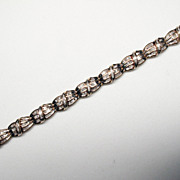 80's 10K Yellow Gold w/ Diamond Bracelet