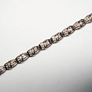 80's 10K Yellow Gold w/ Diamond Bracelet