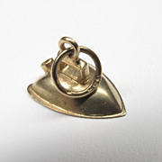 "Vintage 14K Yellow Gold 3D ""Iron"" Charm"