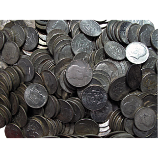 Mixed $10 Roll (20 Coins) 40% Silver Kennedy Half Dollars, 1965-1969