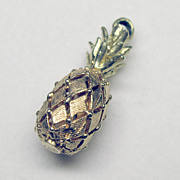 "Wonderful Vintage 3D 14K Yellow and Pink Gold ""Pineapple"" Charm"