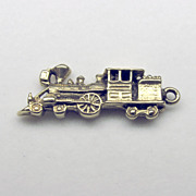 "Vintage 3D 14K Yellow Gold ""Train"" Charm"