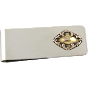 Victorian Gentleman: Modern Silver and Antique Rose Gold Upcycled Money Clip
