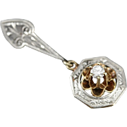 Buttercup Diamond Drop Upcycled Pendant