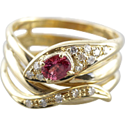 Fantastic Snake Charmer Pink Sapphire Statement Ring