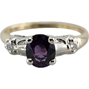 Pretty Purple Sapphire Engagement Ring