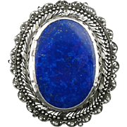 Upcycled Brooch with Lapis Lazuli