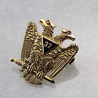 Vintage Men's Masonic Lapel Pin