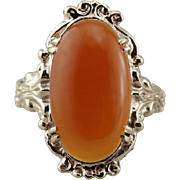 Oval Carnelian Cocktail Ring, Classic Fall Colors