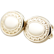 Retrofitted Upcycled Cufflinks, Decorative Oval Stud Earrings