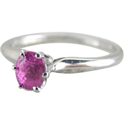 Perfectly Pink Sapphire and Platinum Engagement Ring