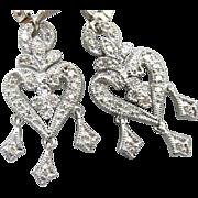 Vintage Bridal Diamond Drop Earrings