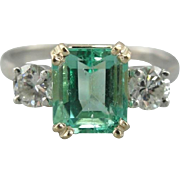 Green with Envy, Emerald and Diamond Ring