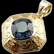Rare Color Change Garnet Floral Pendant
