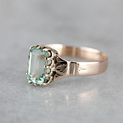Upcycled Sea Green Colombian Emerald Ring