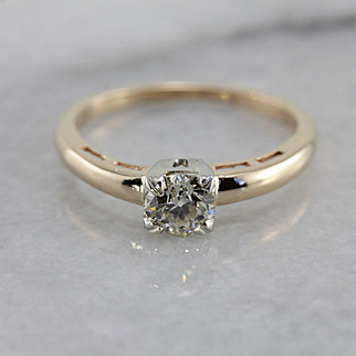 Sweet Vintage Solitaire Engagement Ring