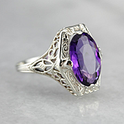 Fantastic Amethyst Cocktail Ring