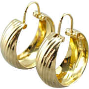 The Signature Earring: 18K Yellow Gold Hoop Earrings with a Wide Profile