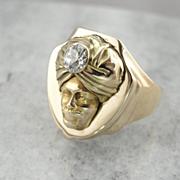 The Sultan: Unique Diamond Statement Ring, Man in a Turban