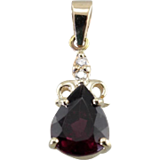The Sabrina Pendant By Market Square Jewelers with Garnet Gemstone