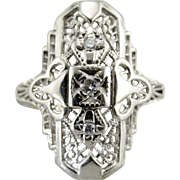 Gorgeous 1920's Art Deco Diamond Cocktail Ring