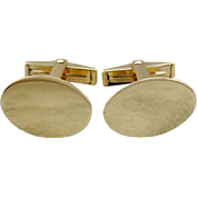 Vintage Cufflinks, Simple Cufflinks, Plain Oval Cufflinks