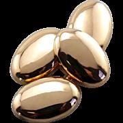 Luxurious Polished Cufflinks, Heavy 22 Karat Rose Gold