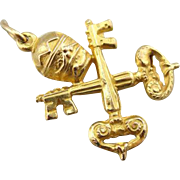 Crown and Key Fob, Charm or Pendant