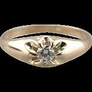 Tiny Diamond Starburst, Baptism Ring, Pink Ring, Midi Ring