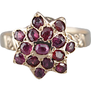 Stunning Ruby Cluster Ring