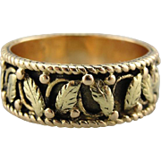 Art Nouveau / Arts & Crafts Period Cigar Band with Black Hills Gold Style, Crisp and Wondrous Foliage Band