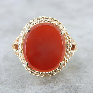 Autumn Awesome! Vintage Carnelian Cocktail Ring