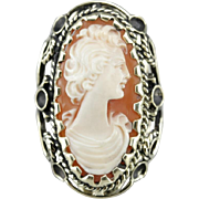 Vintage Spanish Cameo Cocktail Ring
