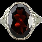 Bold Red Garnet Cocktail Ring