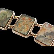 Moss Agate Link Bracelet