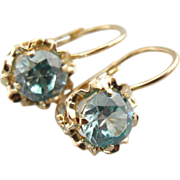 Something Blue! Fine Zircon Gemstones in 18K Gold Drop Earrings