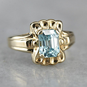 Blue Zircon Ostby and Barton Ring