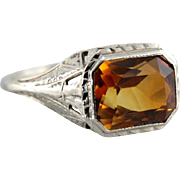 Bright November Birthstone Citrine Cocktail Ring