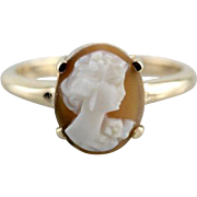 Vintage Petite Shell Cameo Ring