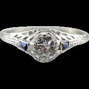 Stunning Art Deco Diamond Engagement Ring