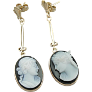 The Lord and Lady: Carved Onyx Earrings