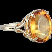 Sunny Vibrant Citrine Ring, Citrine Birthstone, Right Hand Ring