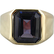 Men's Classic Synthetic Alexandrite Statement Ring