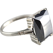 Hematite Cocktail Ring in White Gold