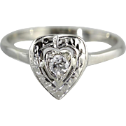 Sweetheart Diamond Engagement Ring